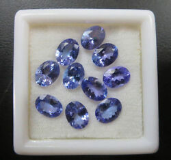 3X4MM to 7X9MM CALIBRATED NATURAL TANZANITE OVAL CUT AA COLOR LOOSE GEMSTONES
