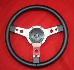 13 Classic Leather Steering Wheel And Hub. Fits Triumph Spitfire 62-76
