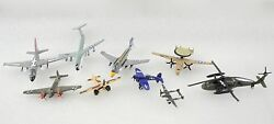 Vintage Diecast Toy Airplanes And Helicopter