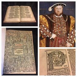 1539 Great Bible FIRST EDITION King Henry VIII FOLIO Rare ENGLISH Reformation