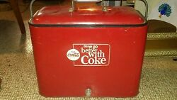 1963-1969 Vintahe Coca Cola Cooler...things Go Better With A Coke