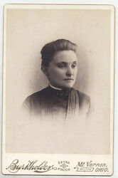 Cabinet Card Lovely Woman With A Secret. Mt. Vernon, Ohio.