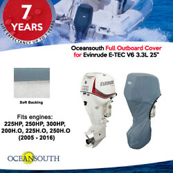 Oceansouth Outboard Storage Full Cover For Evinrude V6 3.3l 25 Leg