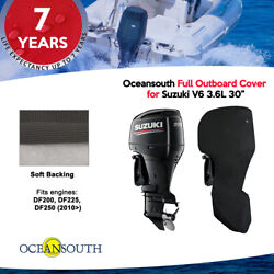 Oceansouth Outboard Storage Full Cover For Suzuki V6 3.6l 30leg