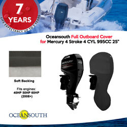 Oceansouth Outboard Storage Full Cover For Mercury 4cyl 40hp-60hp 25 Leg