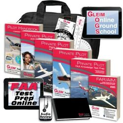 Gleim Deluxe Private Pilot Kit W/online Ground School Test Prep And Audio Review