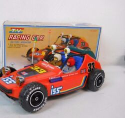 Vintage 1970's Cien Ge Toys T.v. Racing Car Battery Operated Dune Buggy Works
