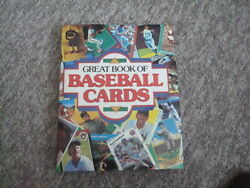 Great Book Of Baseball Cards Hardcover With Jacket, 12 3/4 X 10, 1989 452 Pages