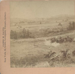 1892 Stereoview Of Painting Of The Battle Of Gettysburg