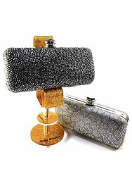 Lady Couture Beauty Shimmer with Stones Dress Clutches $50.00
