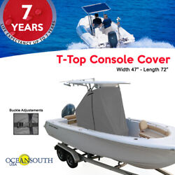 Oceansouth Center Console T-top Cover Gray Size Large