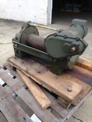 Garwood Winch 20000 Lbs Military With Gear Reduction Box Unused