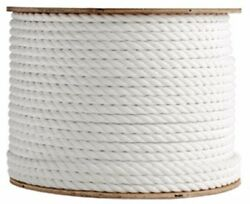 Anchor Rope Dock Line 1 X 150and039 3 Strand Twisted 100 Nylon White Made In Usa