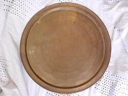 Judaica Antique Jewish Copper Plate Wedding And039if I Forget You Jerusalemand039 Zion