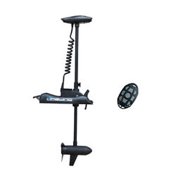 Black Haswing 12v 55lbs 54 Bow Mount Electric Trolling Motor And Wireless Remote