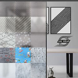 White Frosted Window Privacy Film - Squares - Plain - Lines 15 Great Designs