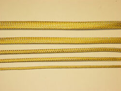 Braided Brass Expandable Flex Sleeve Wiring Harness Loom Flexable Wire Cover