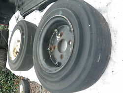 2 Fork Lift Tires With Rims 4 Lug 4.00 X 8.00 3.75