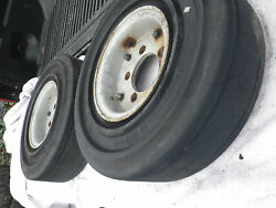 2 Fork Lift Tires With Rims 5 Lug 5.00--8