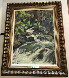 Donna Norine Schuster River In Forest Famous Series Original Oil Painting