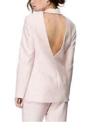 Cameo C/meo The Label Dust Pink Begin Again Backless Blazer Jacket Xs