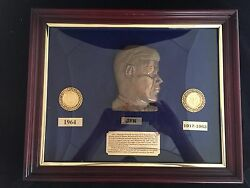 Jfk Commemorative Coin Set 1964 Gold Half Dollar With Ruby Emeralds And Sapphir
