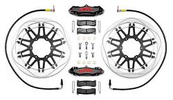Pfm Brakes Race Kitdiscand039s Calipers Lines Pads And Fittings Non Bike Specific