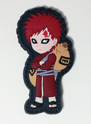 Naruto Shippuden Gaara PVC Removable Hook amp; Loop 2.75quot; Patch YAPP0004 US Seller