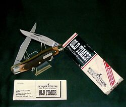 Schrade 77ot Old Timer Knife Improved Muskrat 3-7/8 Closed 1980and039s W/packaging