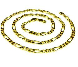 14k Solid Yellow Gold Handmade Figaro Curb Link Chain/necklace 30 48 Grams 5 Mm