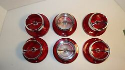 1963 63 Chevrolet Impala New 6 Taillight And Back-up Lights With Chrome And Gaskets