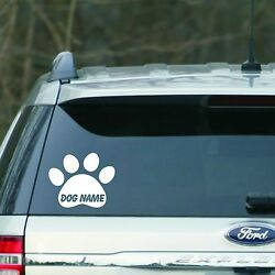 White Personalized paw print Vinyl Decal sticker for Car laptop for cat or dog $3.99