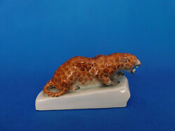 Herend Panther Leopard Cat figurine porcelain