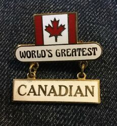 World's Greatest Canadian Canada Pride Flag Lapel Hat Tie Pin Brooch K17