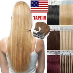 Seamless Tape In 100 Remy Human Hair Extensions Skin Weft Real Hair 16-22 B100