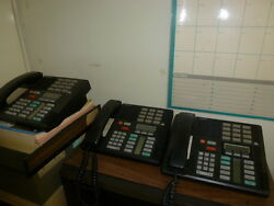 Business And Industrial Norstar Phone System With Three Black Phones And Manuals