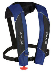 132000-500-004-15 Onyx Outdoor A/m-24 Auto/manual Inflate Blue Life Jacket