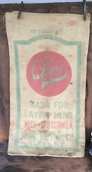 Acme 100 Pound Feed Bag, Mash For Laying Hens With Buttermilk, Advertising,olean