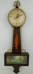 Vintage General Electric Wood And Metal Wall Clock Eagle Topper Parts And Repair