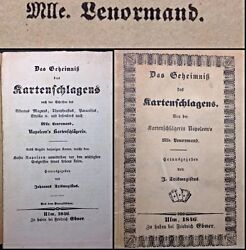 1846 Lenormand Fortune Telling Playing Cards Cartomancy String Bound Booklet