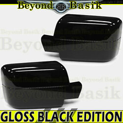 2004 2005 2006 2007 2008 Ford F150 Gloss Black Mirror Covers Overlay Pwr Mirrors