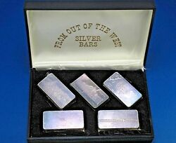 Great Us Mines Silver Proof Set 1969 By Wh Foster Walla Walla Wash 5-3oz Bars