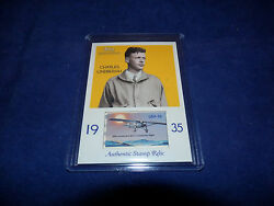 2009 Topps National Chicle Charles Lindbergh With Authentic Stamp Relic Card