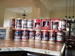 Beer Stein Collectables Miller Budweiser And Coors Not Used Just Showcased