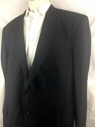 Giorgio Zillioni Made In Italy Soft Wool Menand039s Suite Black 44r Pants 32 In 46w