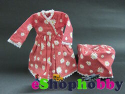 Floral Pattern Red Dress For Blythe Doll Dress + Hat Outfit For Blythe Doll
