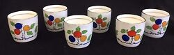 Foley China 509 England Six Small Cups Espresso, Demitasse Or Egg Cups