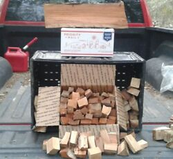 Cherry Bar-b-q Wood Chunks For Smoker Or Barbque Grill Get Ready To Tailgate