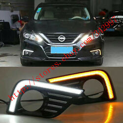 Exact Fit Switchback LED DRL Lights w Turn Signals For Nissan Altima 2016-2017