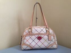 COACH PEYTON TATTERSALL MULTICOLOR SATCHEL  (***NWT***)